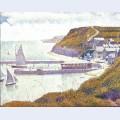 Harbour at port en bessin at high tide