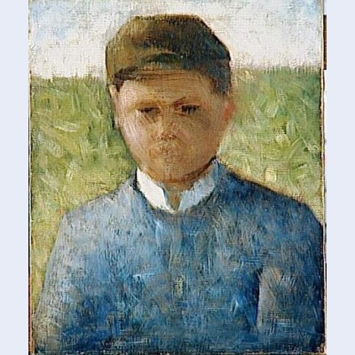 Young peasant in blue