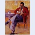 The proud father manakedi naky on bernard sekoto s knee