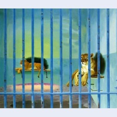 Cage aux lions