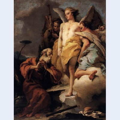 Abraham and the three angels 2