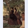 Zwei damen im garten von castiglioncello