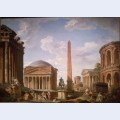 Roman capriccio the pantheon and other monuments