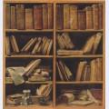 Book shelf with music writings