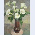 Arum lilies in a vase