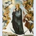 Assun o da virgem ladeada de anjos m sicos