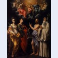 Coronation of the virgin with st catherine of alexandria st john the evangelist st john the