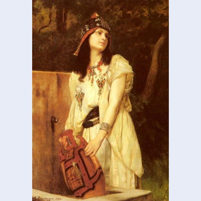 A woman with an urn