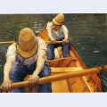 Boaters rowing on the yerres