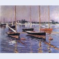 Boats on the seine at argenteuil
