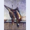 Two hanging pheasants