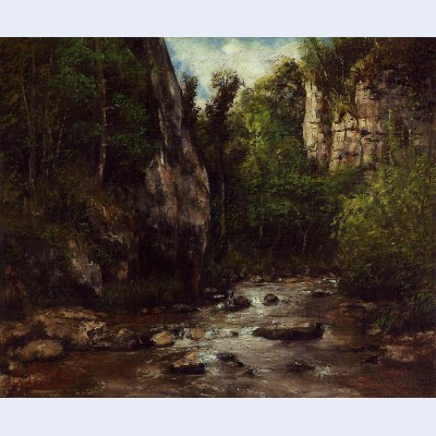 Landscape near puit noir near ornans