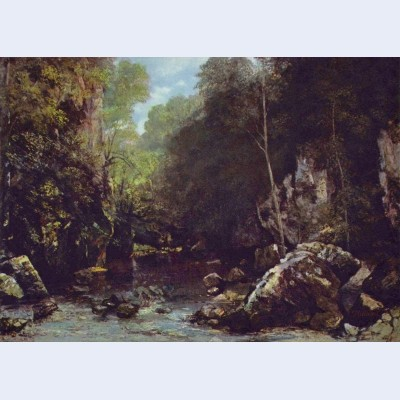 Landscape near puits noir near ornans