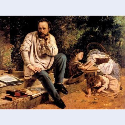 Pierre joseph proudhon and his children in