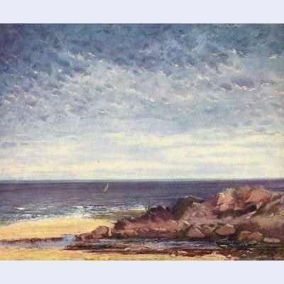 Sea coast in normandy
