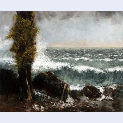 Seascape the poplar