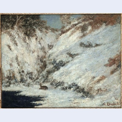 Snow landscape in jura