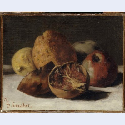 Still life with apples and pomegranates 2