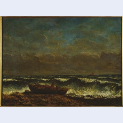 Stormy sea the wave