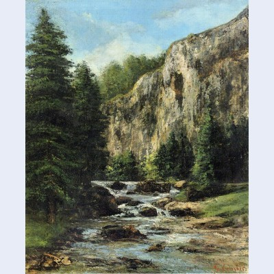 Study for landscape with waterfall
