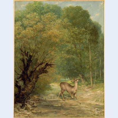 The hunted deer spring