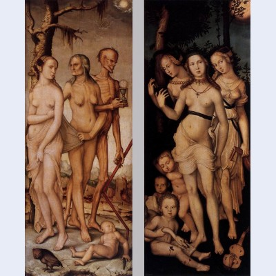 Three ages of man and three graces