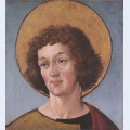 Head of a male saint