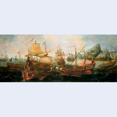 Attack on spanish treasure galleys portugal