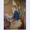 At the piano madame juliette pascal in the salon of the chateau de malrome 1896