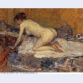 Crouching woman with red hair 1897