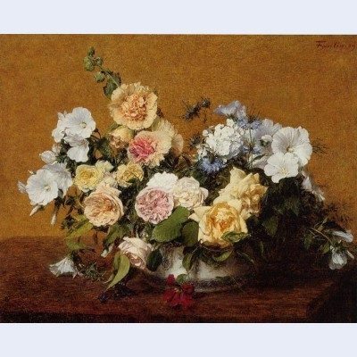 Bouquet of roses and other flowers