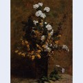 Broom and other spring flowers in a vase