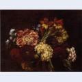 Flowers dahlias and gladiolas
