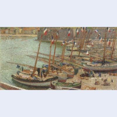 Collioure port july