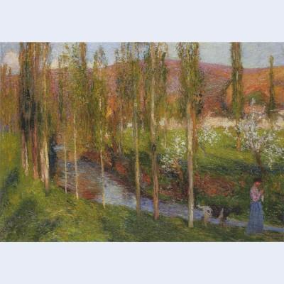 Valle du vert with shepherdess