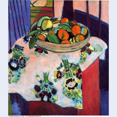 Basket with oranges 1913