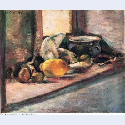 Blue pot and lemon 1897