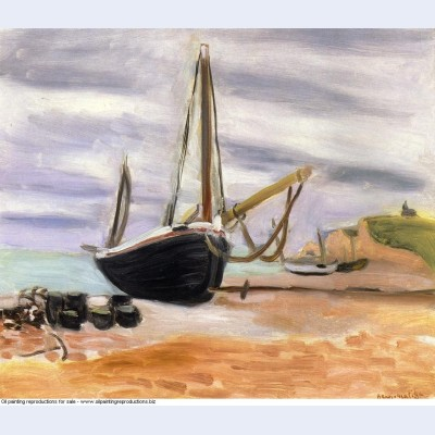 Boats at etretat 1920
