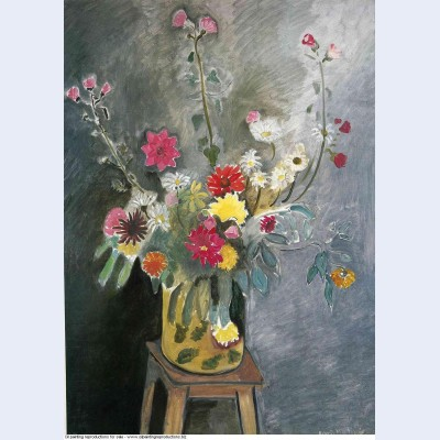 Bouquet of mixed flowers 1917