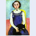 Girl with a black cat