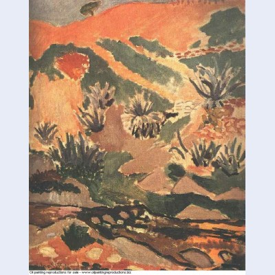 Landscape with brook brook with aloes 1907