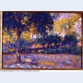 Landscape with eucalyptus trees and river trees in front of a river 1908