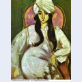 Laurette in a white turban