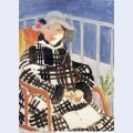 Mlle matisse in a scotch plaid coat 1918
