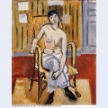 Seated figure tan room 1918