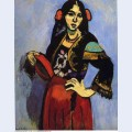 Spanish woman with a tamborine 1909