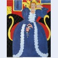 Woman in blue or the large blue robe and mimosas 1937
