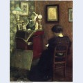 Woman reading 1894