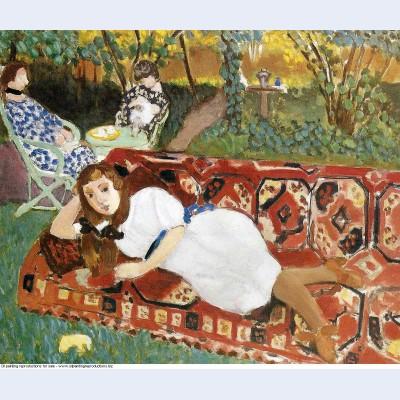 Young women in the garden 1919
