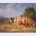Arab horsemen near themausoleum